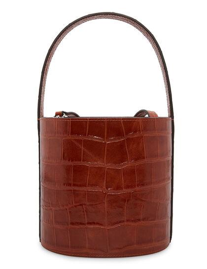 Bissett Bag Croc Embossed Calf Leather