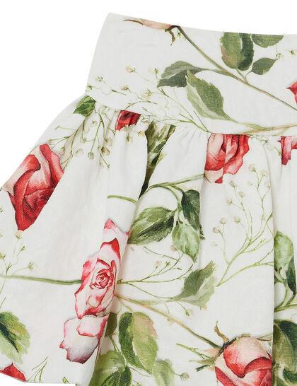 Matelassé Floral Skirt