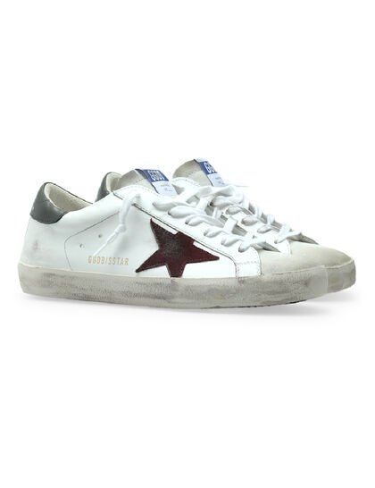 Suede Star & Leather Sneakers