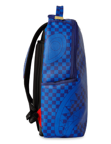 Blue Checkered Shark Backpack
