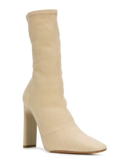 Women'S Ankle Boot In Stretch Canvas 110Mm Heel