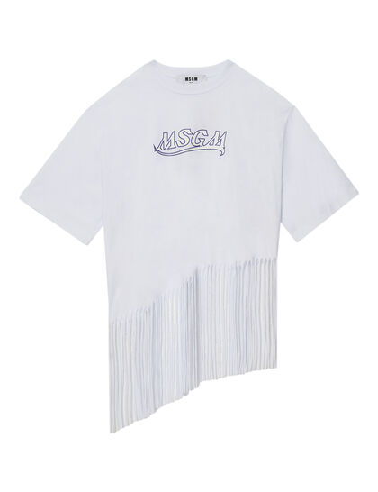 Graphic Fringed T-shirt
