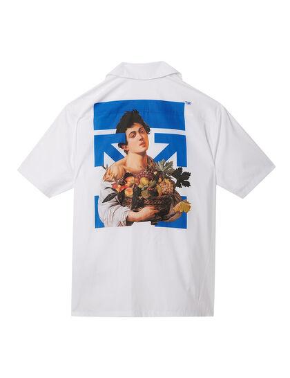 Caravaggio Boy Holiday Shirt White Blue