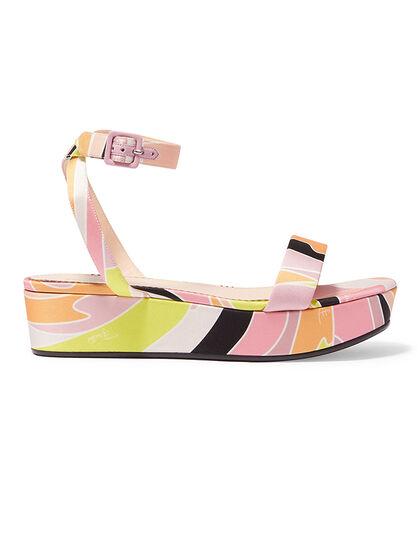 Vetrate Print Platform Sandals