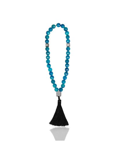 Blue Agate Rosary Beads
