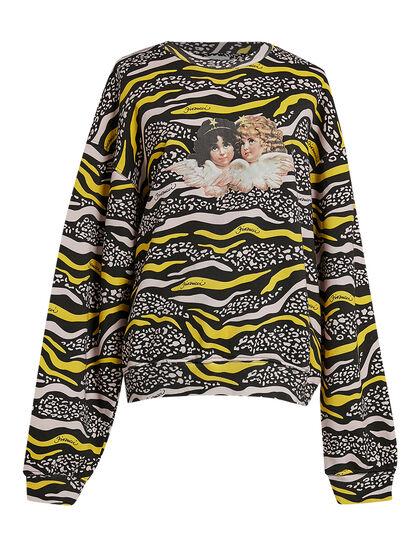 Womens Vintage Angels Sweatshirt In An All Over Wildlife Print