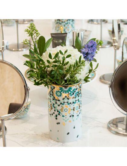 Sis Mirrors Vase - Emerald