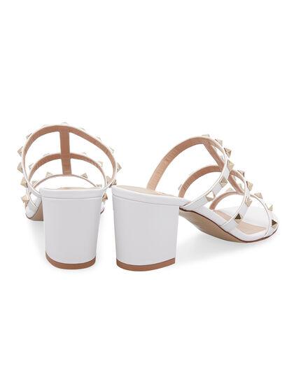 Rockstud Block Heel Sandals