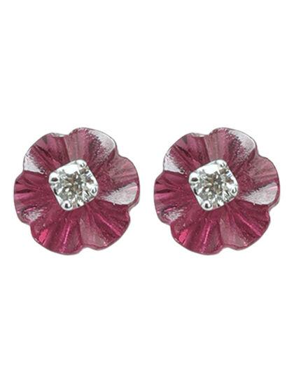 Peridot With Diamond Earring 1