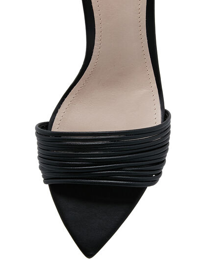Black Ivy Mid Heel Sandal