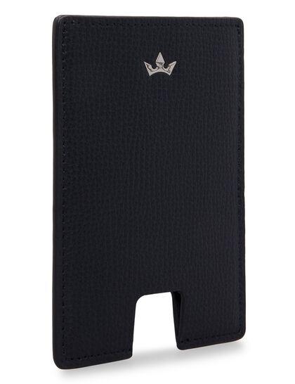 Award Mini Card Holder - Italian Leather Navy Blue