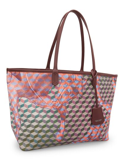 Cheval Print Small Shopper Bag
