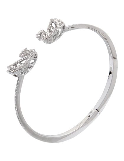 Sjc Dancing Swan-Bangle Czwh/Rhs L