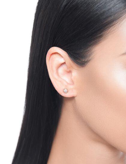 Gfa Salasil Gafla Salasil Gafla Earrings. Round. Rose Gold. Sm