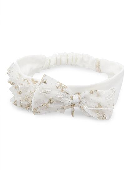 Headband Gold Giltter Bow