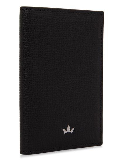 Award Business Card Holder - Italian Leather Black