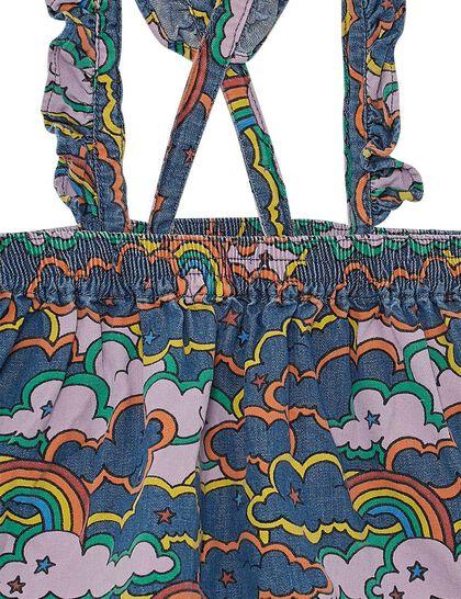 Clouds & Rainbow Denim Skirt
