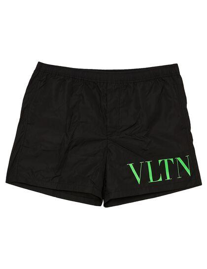 VLTN TAG Nylon Swim Shorts