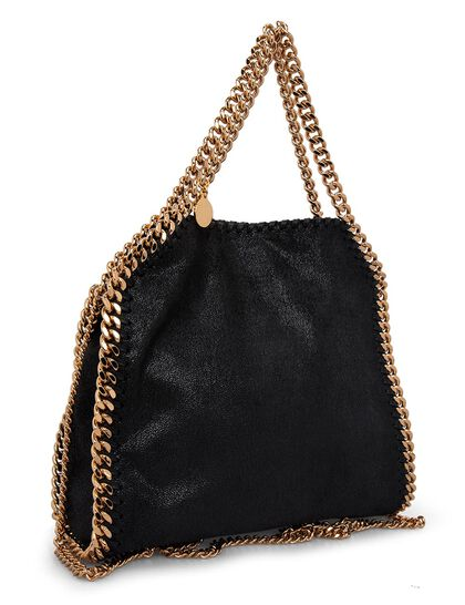 Mini Tote Shaggy Deer With Gold Chain