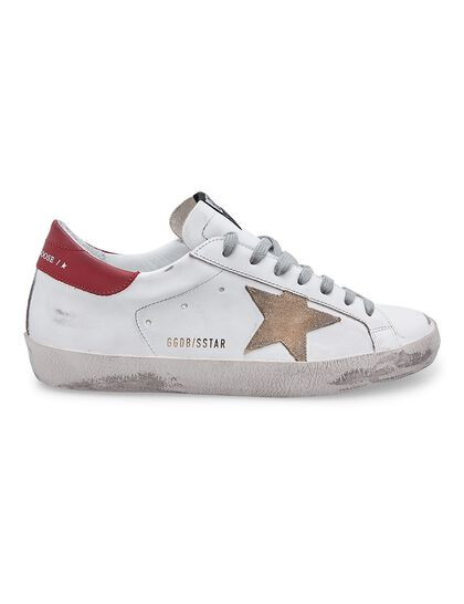 Super-Star Leather Upper And Heel Suede Star