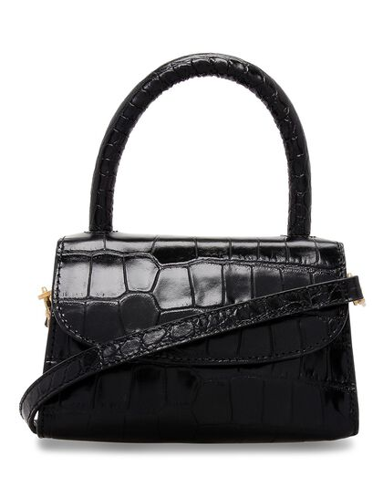 Mini Croco-Embossed Leather Bag