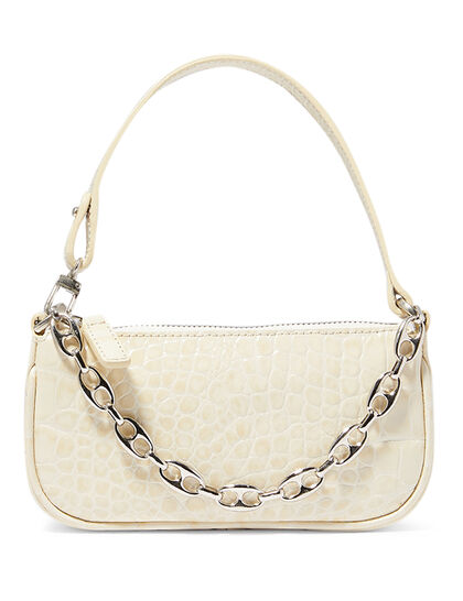 Mini Rachel Croc-Embossed Leather