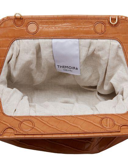 Bios Croco-Embossed Clutch Bag