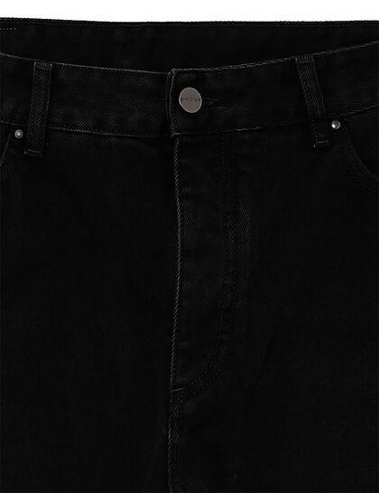 Back Logo 5 Pockets Black White