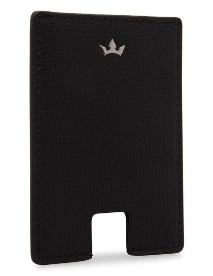 Award Mini Card Holder - Italian Leather Black