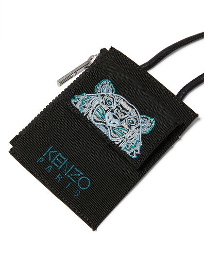 Embroidered Cardholder with Strap