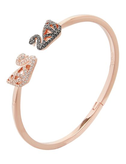 Sjc Facet Swan Bangle Jet Cry Mix L