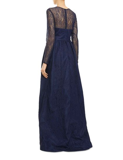 Column Lace Gown With Train