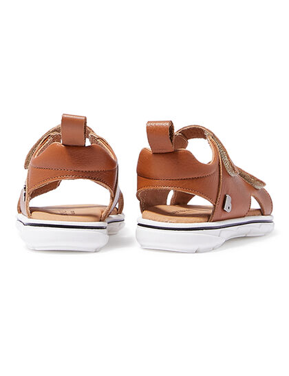 Double Strap Velcro Leather Sandal