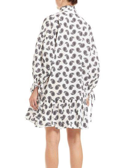 Seersucker Kerchief Print Dress