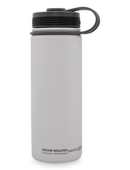 Asobu Alpine Flask White, Double Wall Stainless Stell Hot And Cold Water Bottle