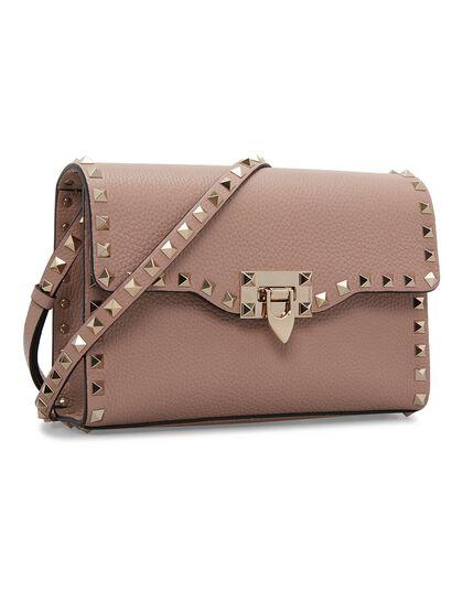 Small Rockstud Grainy Crossbody Bag