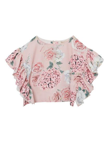 Floral Print Crop Top