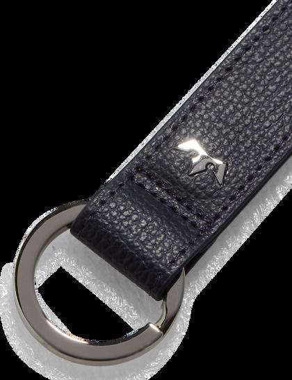 Award Loop Key Ring – Italian Leather Navy Blue
