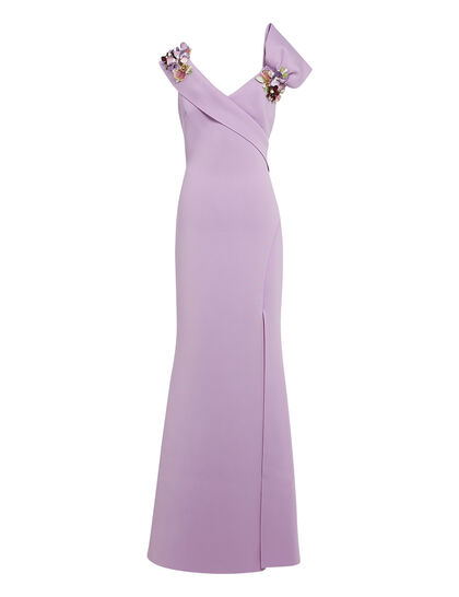 Asymetric Bow Gown