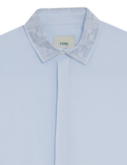 Short Sleeves Shirt Ff Collar