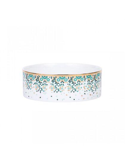Mirrors Cylinder Bowl - Emerald