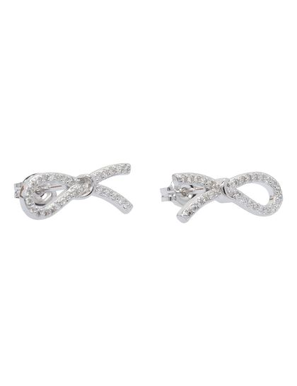 Paved Bow Stud Earrings