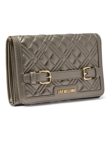 Quilted Crossbody Buckle Bag