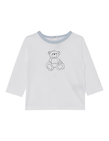Teddy Print Cotton Jersey Set