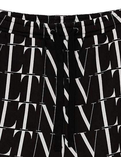 All-Over VTLN Print Shorts - Black