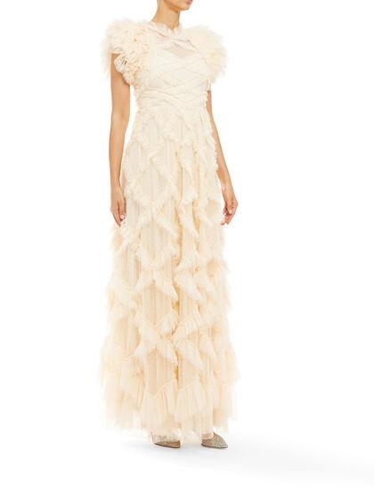 Genevieve Ruffle Gown