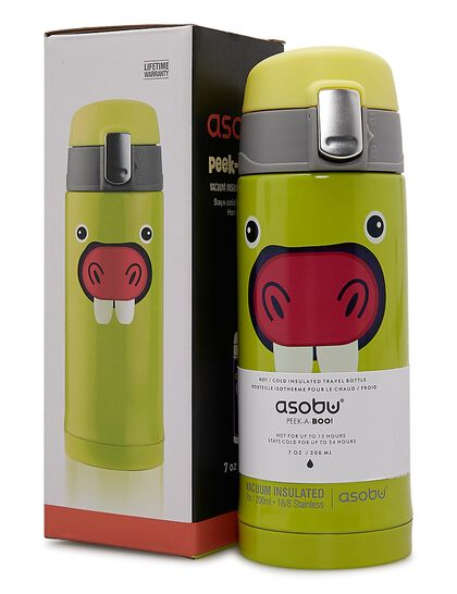 Asobu Peakaboo V605 Light Green,Double Wall Stainless Stell Hot And Cold Water Bottle