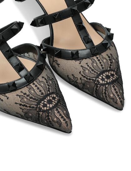 Rockstud Lace Embellished Mules
