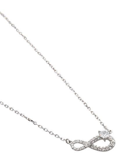 Sjc Swa Infinity-Necklace H Cry/Czwh/Rhs