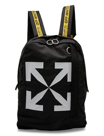 Arrow Print Backpack - Black